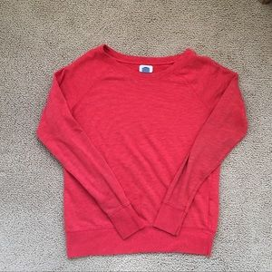 Old Navy Red Orange Sweater